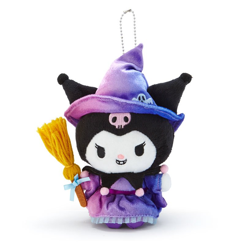Kuromi Plush Mascot Holder Keychain Sanrio Japan Halloween 2020
