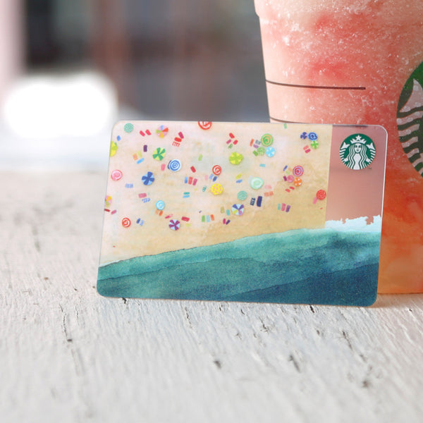 Starbucks Gift Card Japan 2015 Summer Beach w/ sleeve