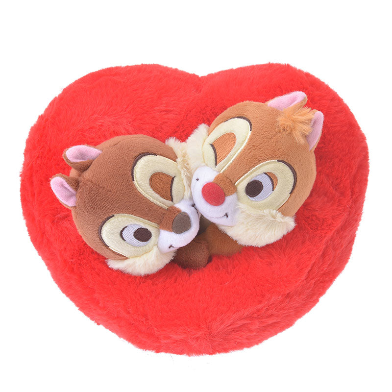 Chip & Dale Plush Doll Heart Valentine 2019 Disney Store Japan