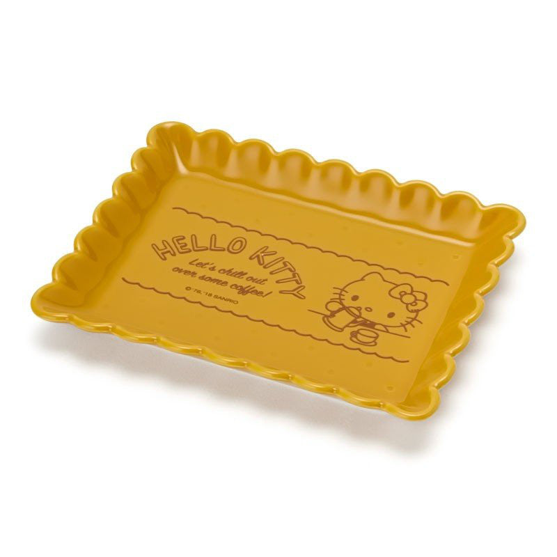 Hello Kitty Biscuit Shape Plate Coffee Time Sanrio Japan