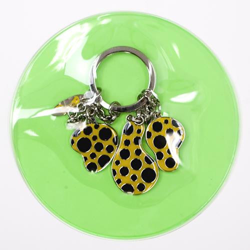 Yayoi Kusama Key Ring Dots Obsession Pumpkin Yellow Japan Artist