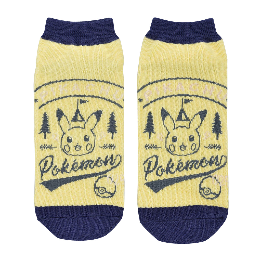 Pikachu drawing Short Socks 23~25cm YL Pokemon Center Japan original