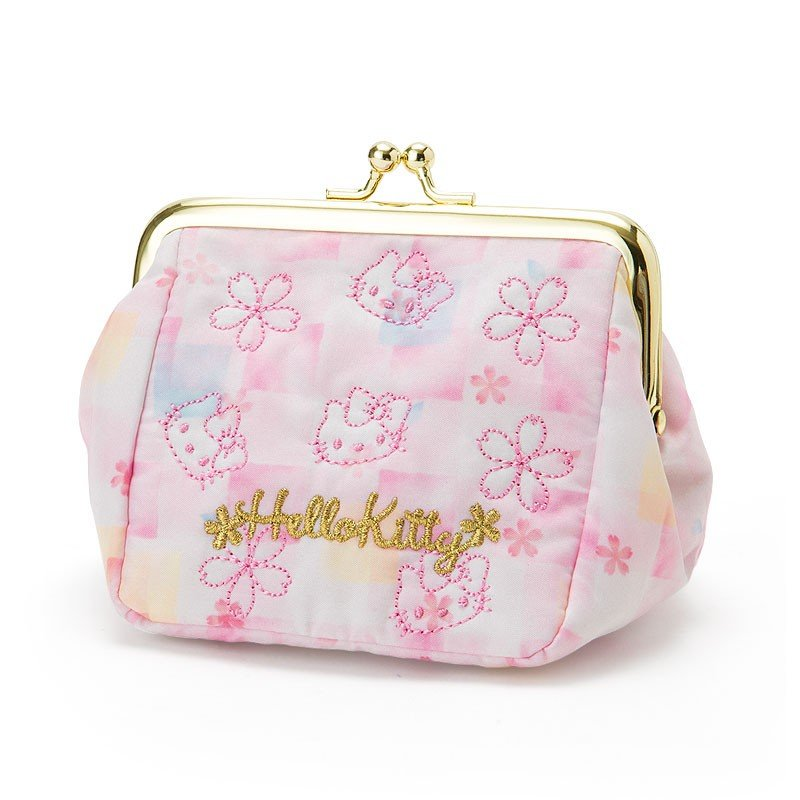 452d15dbeedb Hello Kitty Clasp Pouch Sakura Sanrio Japan