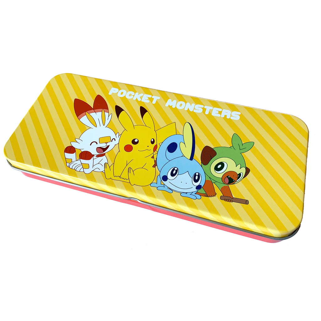 Tinplate Pen Case Pencil Pouch S & S Pokemon Center Japan Original