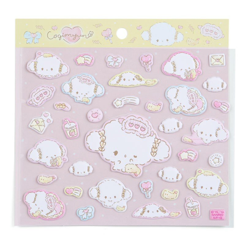 Cogimyun Mokomoko Fluffy Sticker Nice to meet you Sanrio Japan