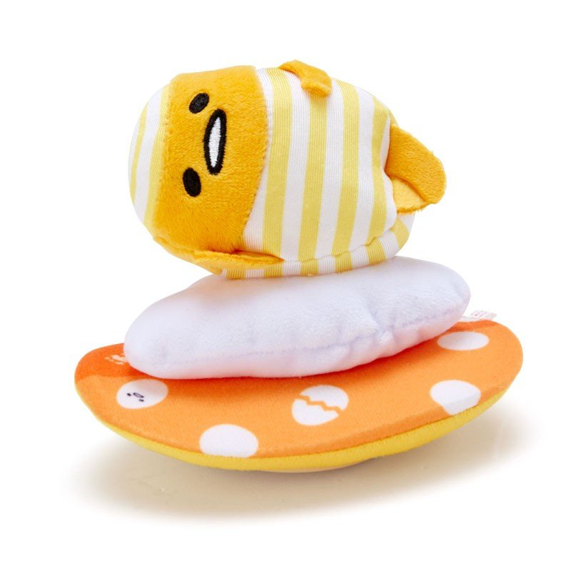 Gudetama Egg Plush Mascot Pull Back Car Surfing Sanrio Japan