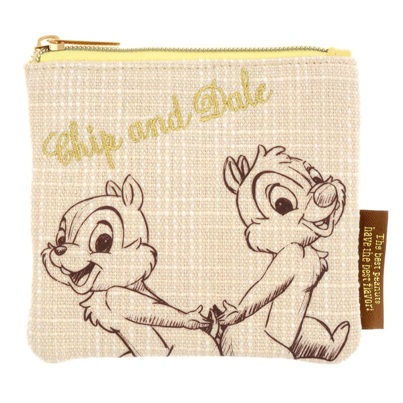 Chip & Dale Tissue Pouch Natural Disney Store Japan Bloom