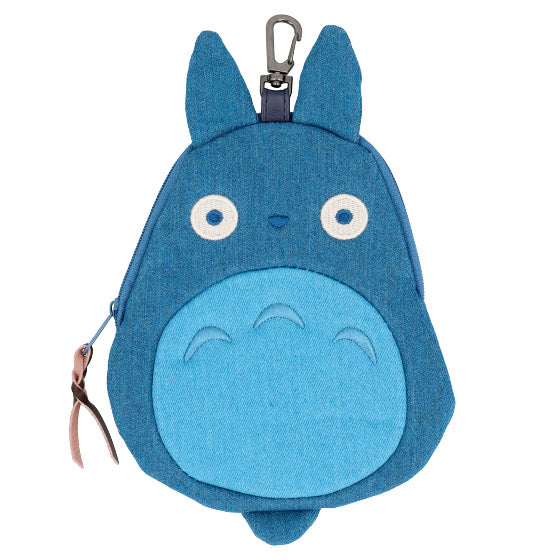My Neighbor Totoro Medium Totoro Denim Pouch Die-Cut Studio Ghibli Japan