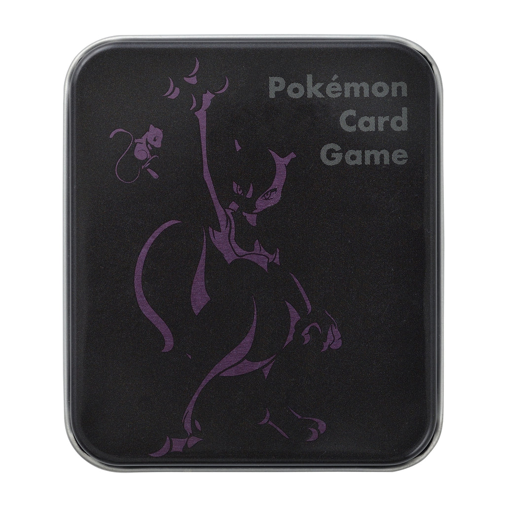 Mewtwo Damage Counter Tin Case Ver.3 Silhouette Pokemon Center Japan Original