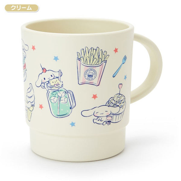 Cinnamoroll Stacking Plastic Cup Cream Happy Days Sanrio Japan