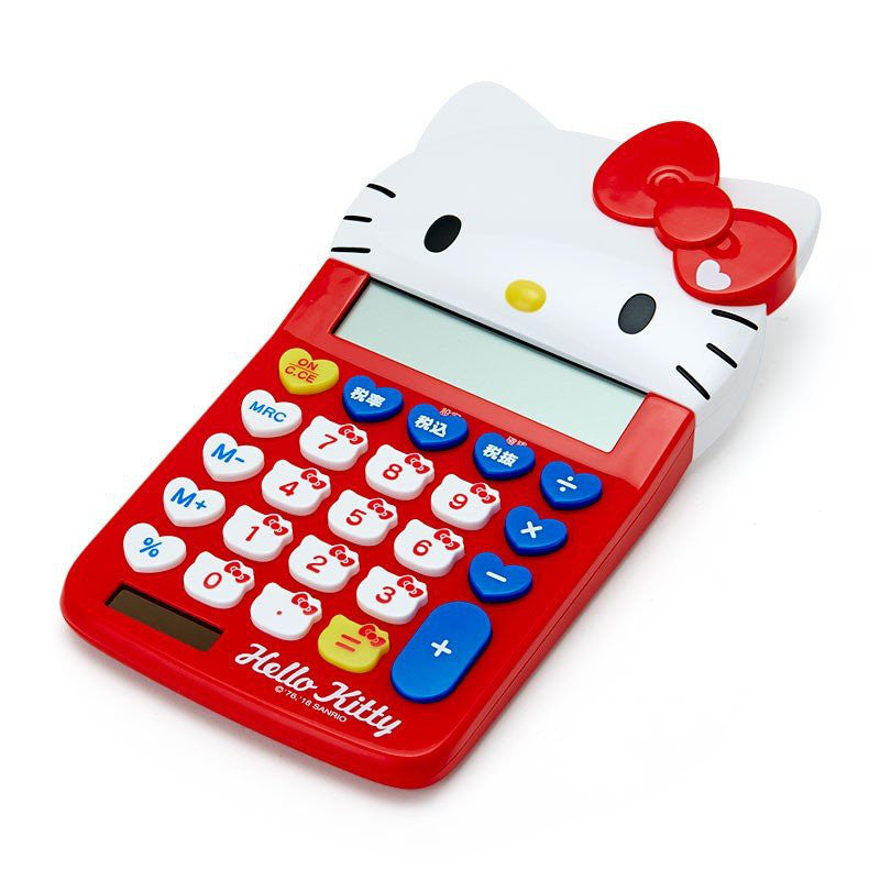 Hello Kitty Calculator 12 digit Face Key Sanrio Japan