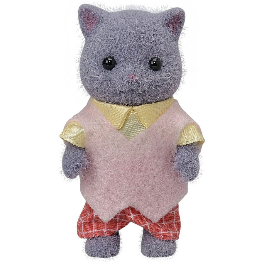 Sylvanian Families Grey Persian Cat Father Doll NI-103 EPOCH Japan
