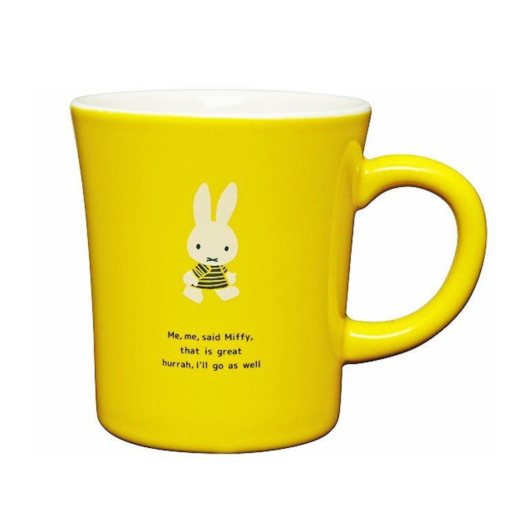 Miffy Mug Cup GO to Sea Yellow Dick Bruna Japan