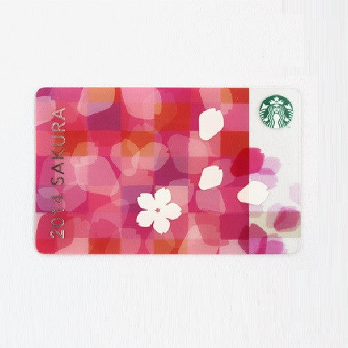 Starbucks Japan 2014 SAKURA Gift Card Cherry Blossom!