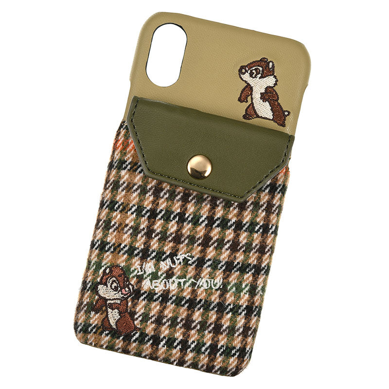 Chip & Dale iPhone X / XS Case Cover Look Khaki ACCOMMODE Disney Store Japan
