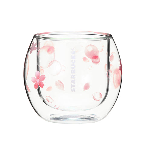 SAKURA 2018 Double Wall Glass Cup Bubble 237ml Starbucks Japan