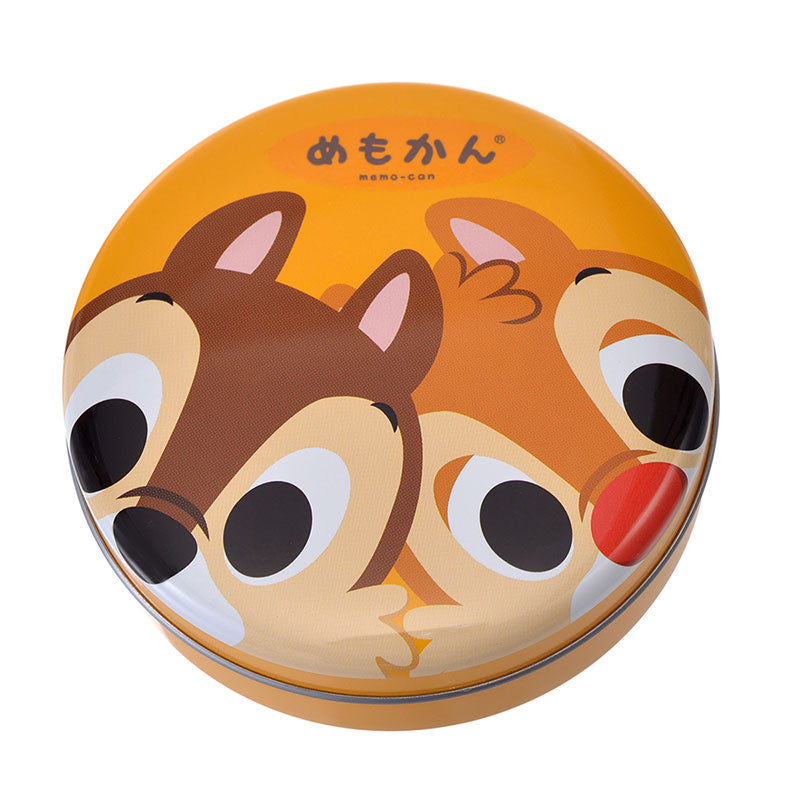 Chip & Dale Can Memo Note Pad Pop Disney Store Japan