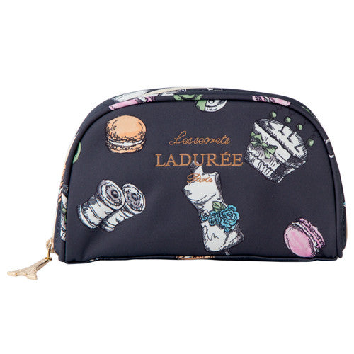 Laduree Macaron Cosmetic Pouch Eiffel Tower Charm Black (Sewing) Japan