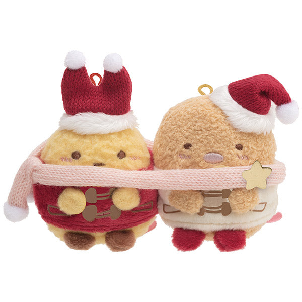 Sumikko Gurashi Fried Shrimp Tail & Pork mini Tenori Plush San-X Japan Christmas