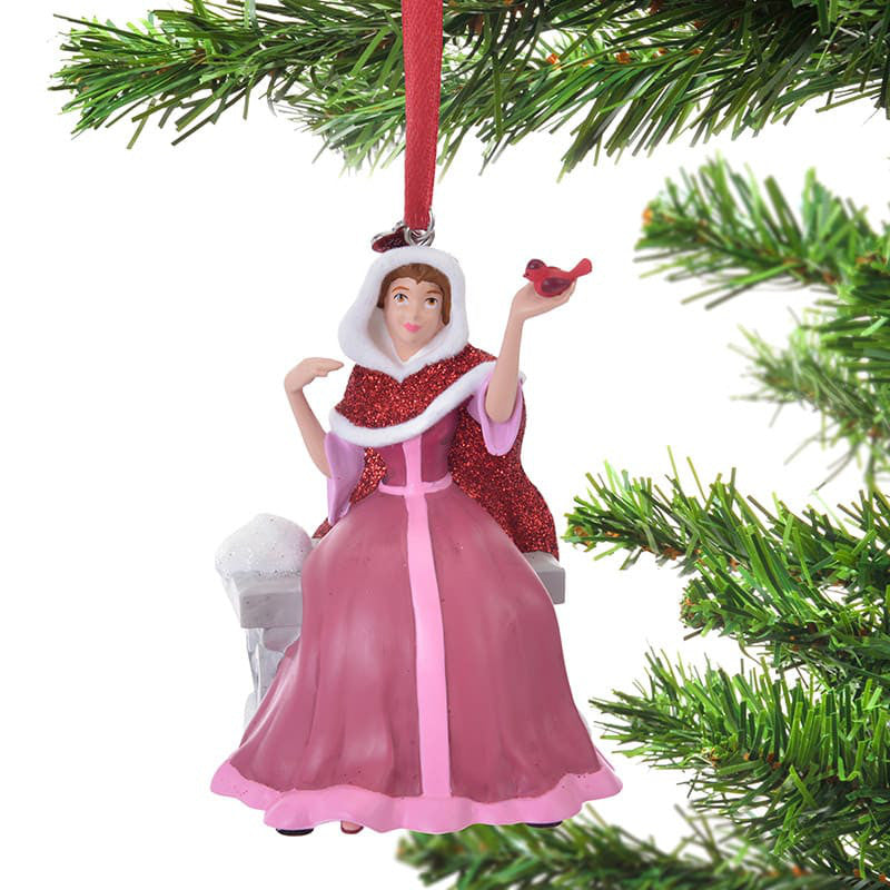 Beauty and the Beast Belle Christmas Tree Ornament Singing Disney Store Japan
