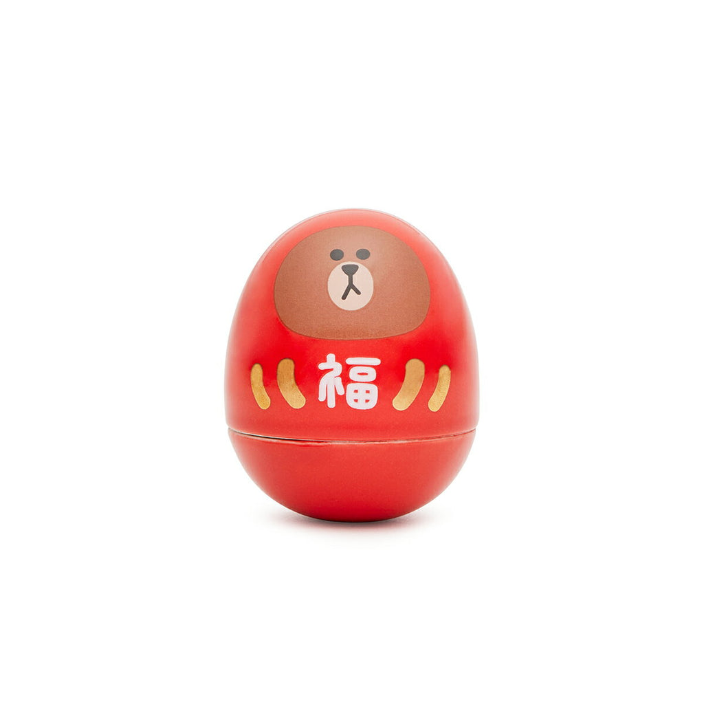 Brown Daruma Red LINE FRIENDS Japan Limit
