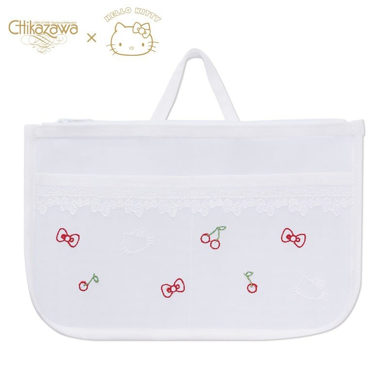 Hello Kitty Bag in Bag Chikazawa Lace White Sanrio Japan