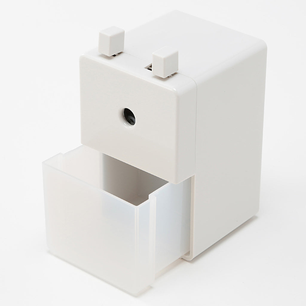 Muji Japan Pencil Sharpener L Simple White