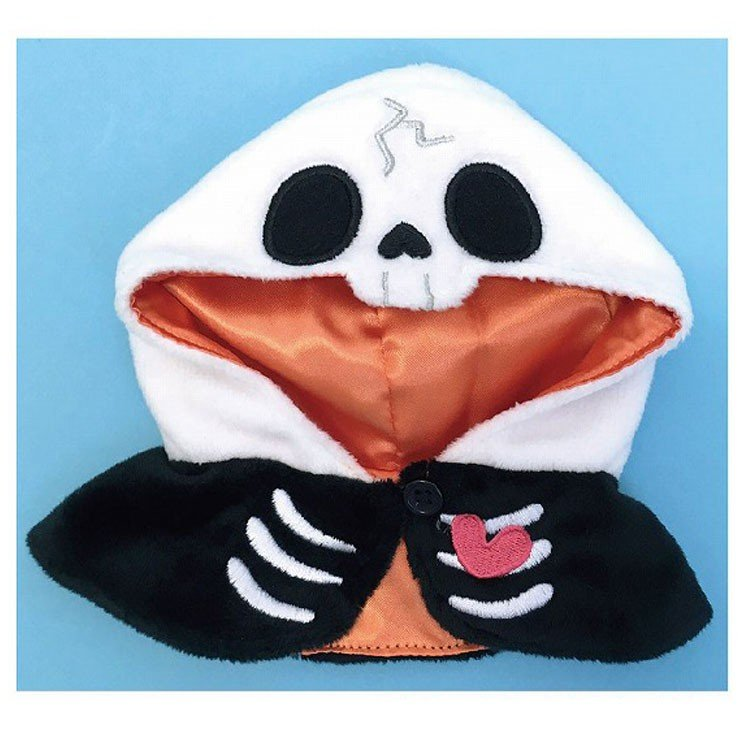 Pickles the Frog Costume for Bean Doll Plush Skeleton Halloween Japan