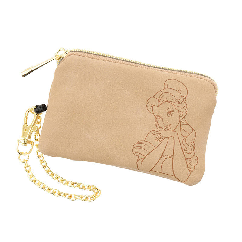 Belle Coin Case Pouch Beige Legato Largo(R) Disney Store Japan Beauty and Beast