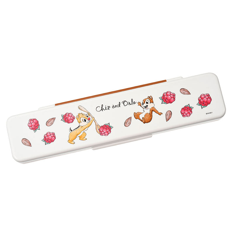 Chip & Dale Lunch Combi Chopsticks Spoon Set Plants Disney Store Japan