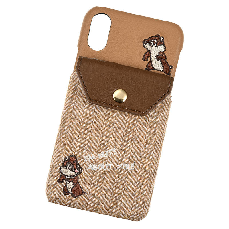 Chip & Dale iPhone X / XS Case Cover Brown ACCOMMODE Disney Store Japan