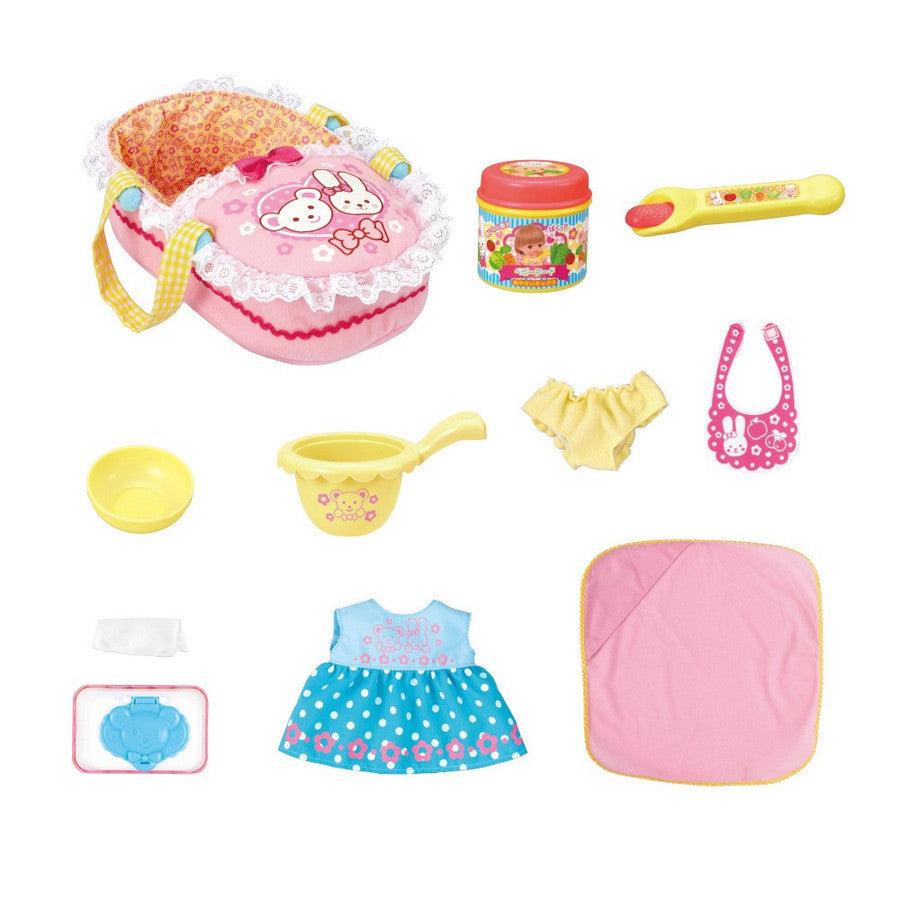 Mell Chan Baby's Care 10 items Set Pretend Play Toy Pilot Japan