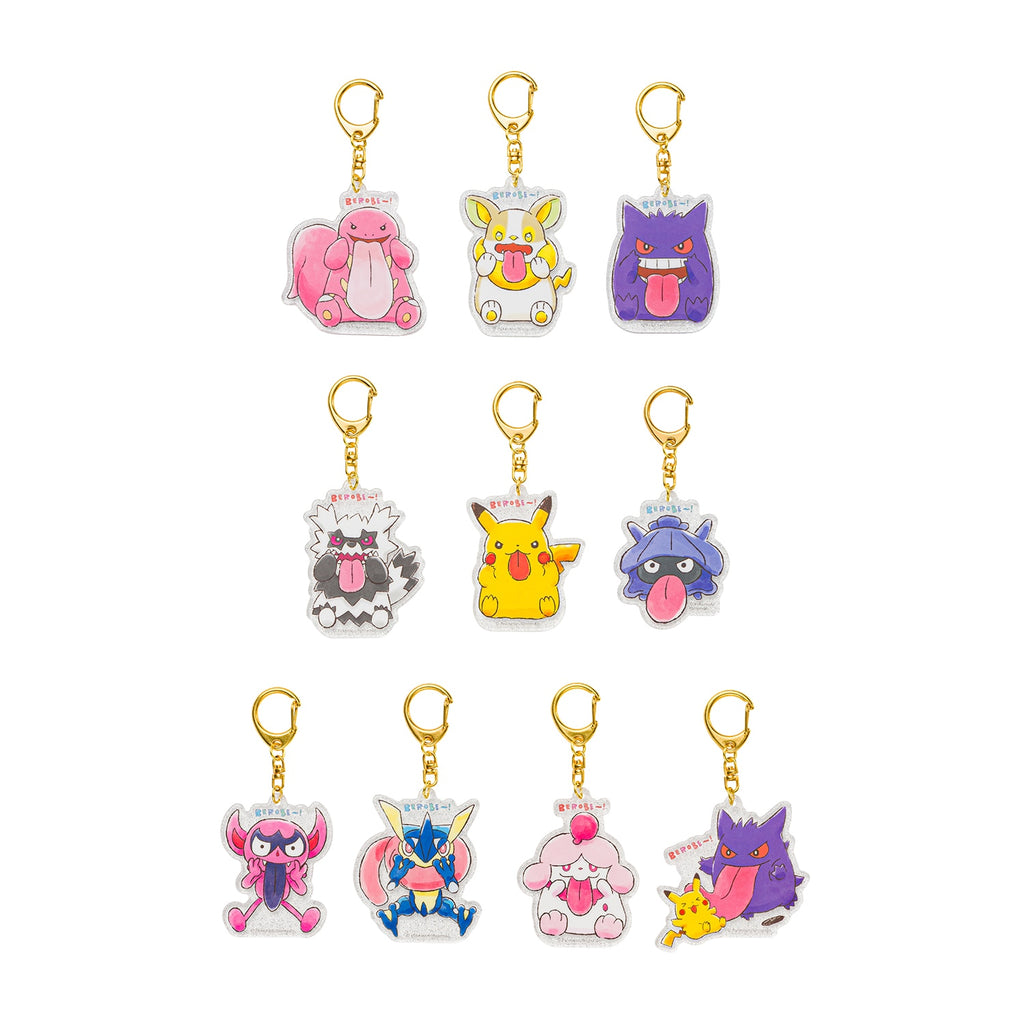 Acrylic Keychain Key Holder BOX 10 Full Set BEROBE~! Pokemon Center Japan