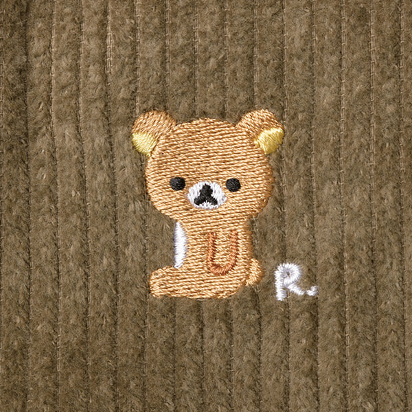 Rilakkuma mini Shoulder Bag Corduroy Khaki San-X Japan