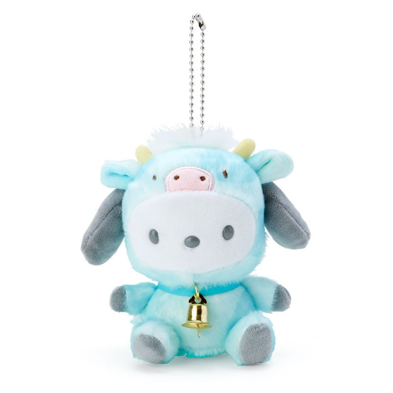 Pochacco Plush Mascot Holder Keychain Zodiac Cow Sanrio Japan New Year 2021