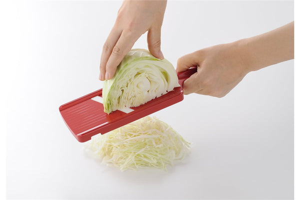 Ceramic Vegetable Slicer with Safety Device Red CSN-10RD Kyocera Japan