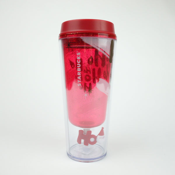 Starbucks Christmas Japan 2014 Fun Tumbler Rotating Santa Ho Ho Ho!