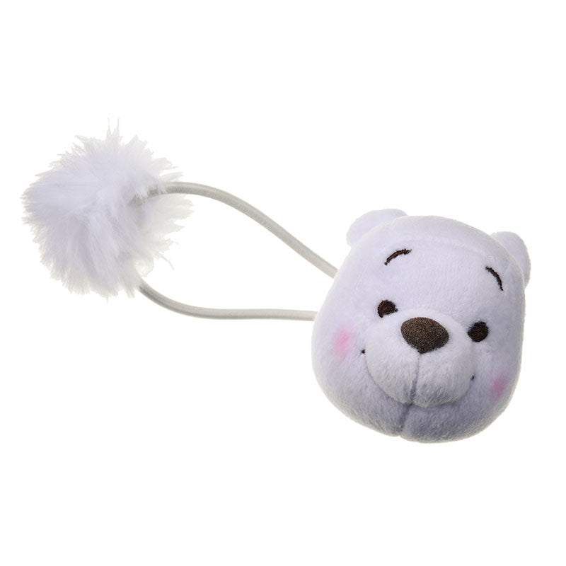 Winnie the Pooh Plush Ponytail Holder Gold White Pooh Disney Store Japan