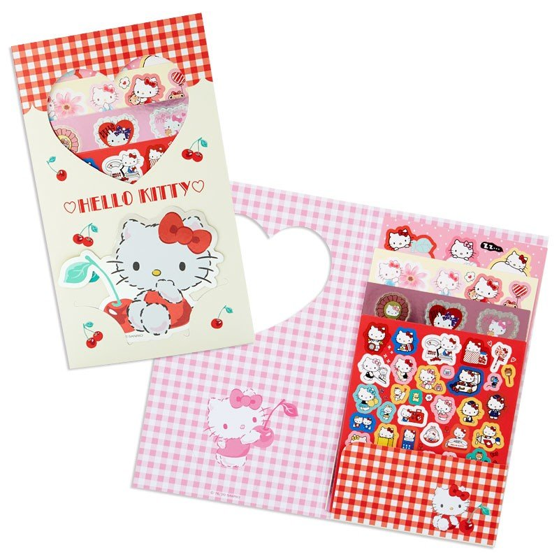 Hello Kitty Volume Sticker Set Sanrio Japan