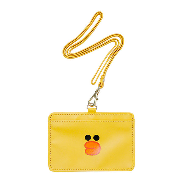 Sally Chick ID Card Holder Pass Case Strap LINE FRIENDS Japan