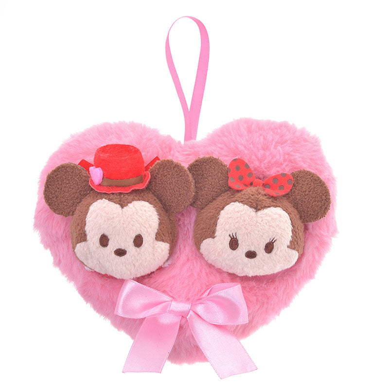 Mickey & Minnie Tsum Tsum Plush Doll mini S Valentine 2020 Disney Store Japan