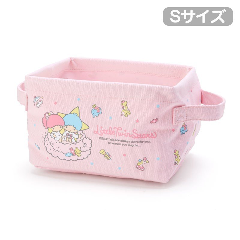 Little Twin Stars Kiki Lala Canvas Storage Box S Sanrio Japan
