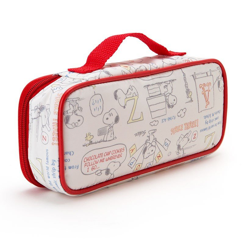 Snoopy Pen Case Pencil Pouch Lightweight Embroidery Sanrio Japan