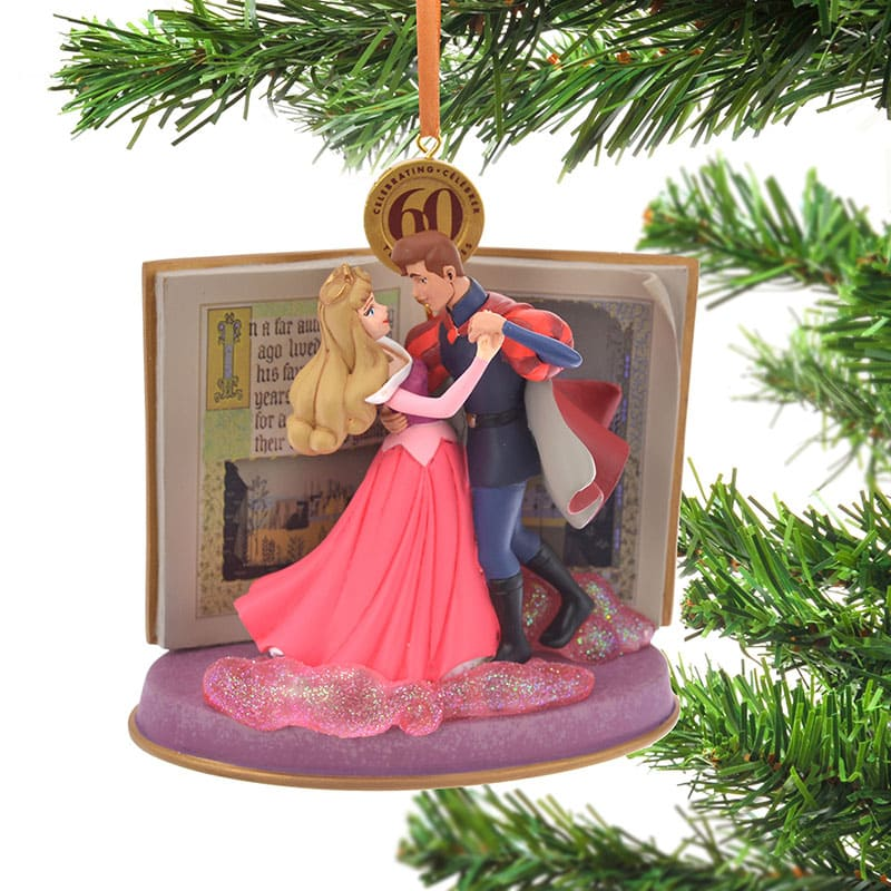 Aurora & Prince Phillip Christmas Tree Ornament Legacy Pink Disney Store Japan