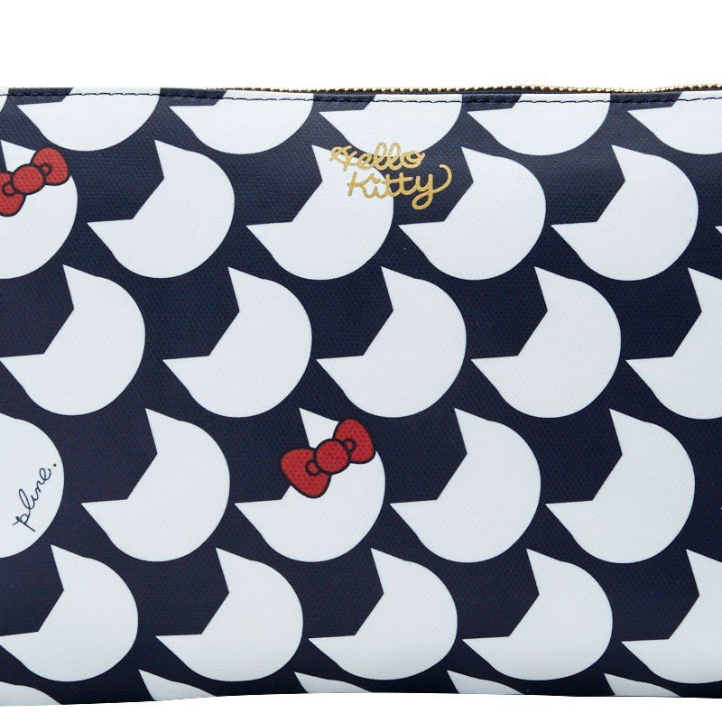 26580f9618b4 Hello Kitty Clutch Bag Navy Plune Sanrio Japan