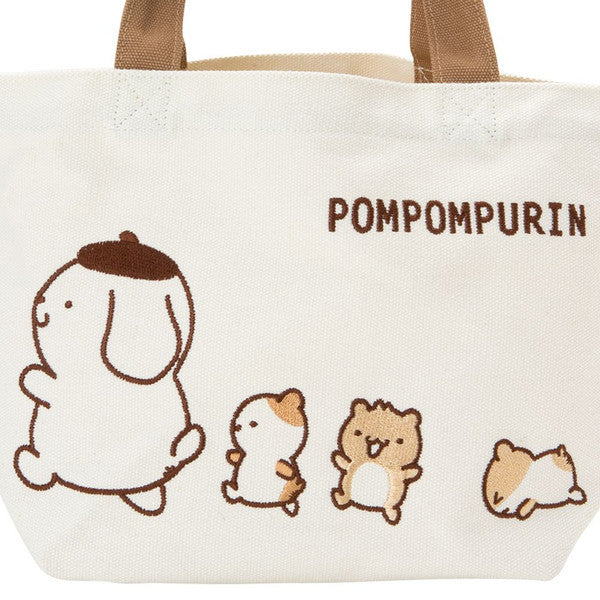 Pom Pom Purin Canvas mini Tote Hand Bag Always Together Sanrio Japan