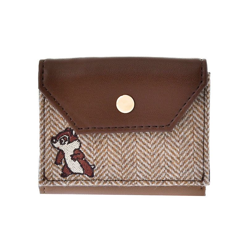 Chip & Dale mini Wallet Look Brown ACCOMMODE Disney Store Japan