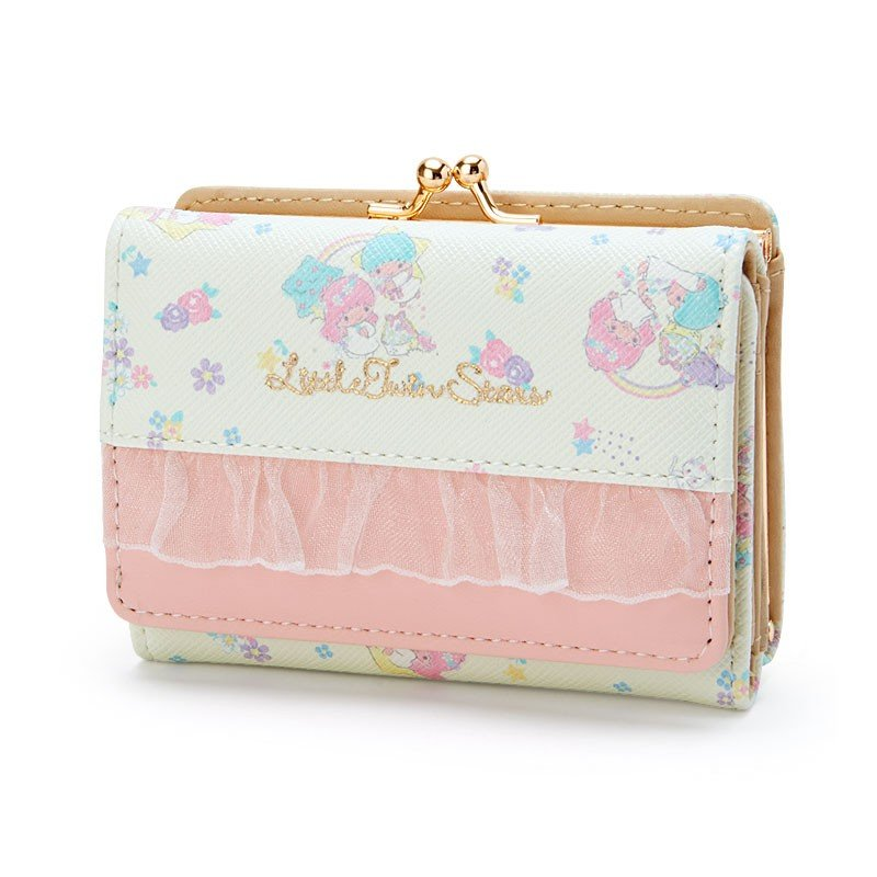 Little Twin Stars Kiki Lala Clasp Trifold Wallet Tulle Lace Sanrio Japan