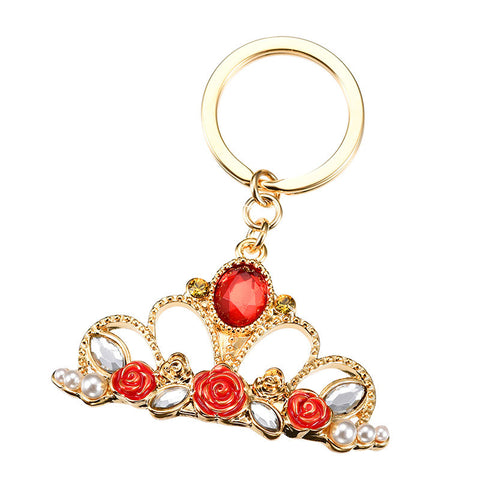 Belle Keychain Key Holder Tiara Disney Store Japan Beauty and the Beast