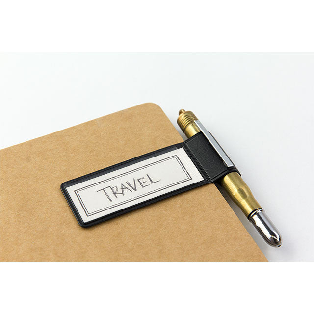 TRAVELER'S Notebook Japan Pen Holder Sticker 024 Black 82262006 Midori